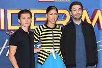 Tom Holland, Zendaya and director, Jon Watts<br /> at the &quot;Spider-Man:Homecoming&quot; photocall at the Ham Yard Hotel, London. <br /> <br /> <br /> &copy;Ash Knotek  D3281  15/06/2017