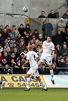 Pictured: Owain Tudur Jones of Swansea City in action <br /> Re: Coca Cola Championship, Swansea City FC v Cardiff City at the Liberty Stadium. Swansea, south Wales, Sunday 30 November 2008.<br /> Picture by D Legakis Photography / Athena Picture Agency, Swansea 07815441513
