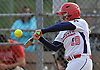 Deanna Barrera #19 of MacArthur bats during Game 2 of the Nassau County varsity softball Class A final against Island Trees at Mitchel Athletic Complex on Wednesday, May 24, 2017.