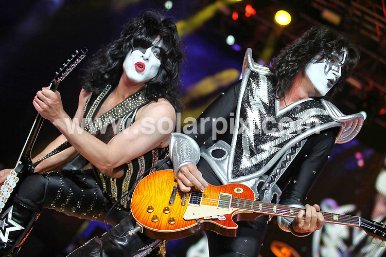 **ALL ROUND PICTURES FROM SOLARPIX.COM**.**WORLDWIDE SYNDICATION RIGHTS**.Kiss in Concert, LG Arena, Birmingham, 05 May 2010.This pic: Kiss.JOB REF: 11214      NYA     DATE: 05_05_2010.**MUST CREDIT SOLARPIX.COM OR DOUBLE FEE WILL BE CHARGED**.**MUST NOTIFY SOLARPIX OF ONLINE USAGE**.**CALL US ON: +34 952 811 768 or LOW RATE FROM UK 0844 617 7637**