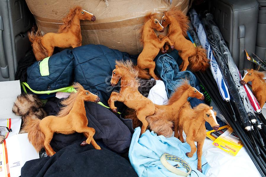 4/10/2010. Toy horses for sale at the Ballinasloe Horse Fair, Ballinasloe, Ireland. Picture James Horan