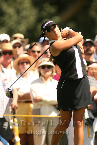 Apr. 2, 2006; Rancho Mirage, CA, USA; Natalie Gulbis tees odd during the final round of the Kraft Nabisco Championship at Mission Hills Country Club. ..Mandatory Photo Credit: Darrell Miho.Copyright © 2006 Darrell Miho .