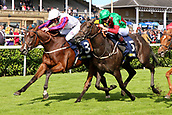 14th September 2017, Doncaster Racecourse, Doncaster, England; The William Hill St Ledger Festival, DFS Ladies Day; P.J. Mc Donald wins the William Hill May Hill Stakes