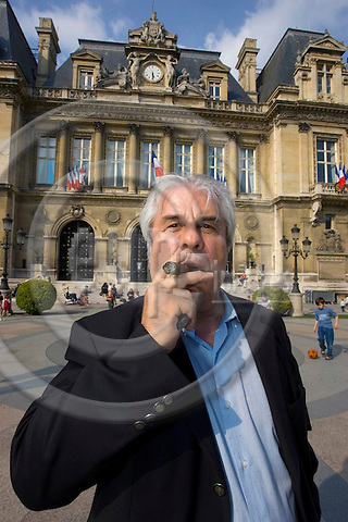 NEUILLY-SUR-SEINE - FRANCE - 04 MAY 2007 -- Ali NASSEREDINO, journalist and former city councillor in Neuilly-sur-Seine worked with Sarkozy some time. Here he poses infront of the town hall where Sarkozy served as Mayor from 1983 to 2002. -- PHOTO: JUHA ROININEN / EUP-IMAGES