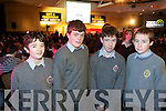 Pictured at the Business boot camp part of the young Entrepreneur programme at the Brandon hotel on Friday were Michael Dillane, Eoghan McCarthy, Vinny Murphy, Shane Hayes students from Tralee CBS, The Green.