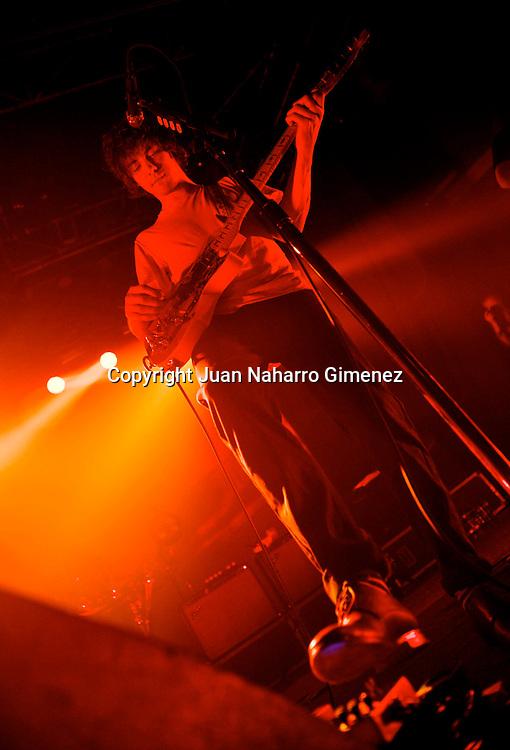 MADRID, SPAIN - DECEMBER 17: Andrew VanWyngarden of MGMT performs at La Rivieraon December 17, 2010 in Madrid, Spain. (Photo by Juan Naharro Gimenez)