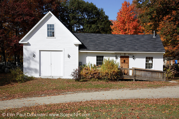 Faith Hall during the autumn months. Located in East Washington, New Hampshire USA .Notes:.Washington is the first town incorperated under the name of George Washington