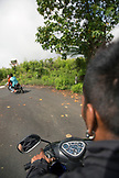 INDONESIA, Flores, riding motorbikes down the volcano and out of Kelimutu National Park