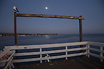 Santa Cruz Muni Wharf and moon