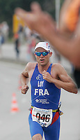 15 JUL 2007 - LORIENT, FRA - Julien Loy (FRA) on his way to winning the World Elite Mens Long Distance Triathlon Championships. (PHOTO (C) NIGEL FARROW)