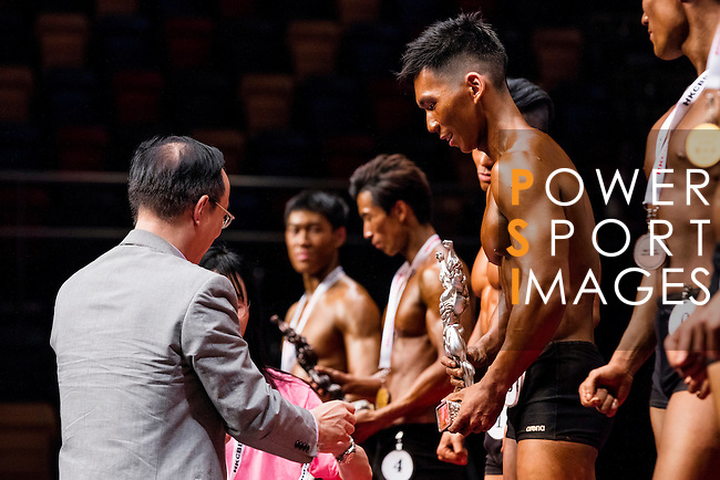 Winners in the Student Athletic Physique category during the 2016 Hong Kong Bodybuilding Championships on 12 June 2016 at Queen Elizabeth Stadium, Hong Kong, China.  Photo by Victor Fraile / Power Sport Images