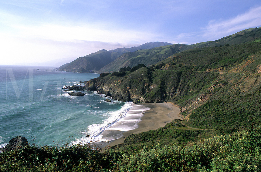 Beautiful scenic on Pacific Coast Highway 1 near Big Sur California US