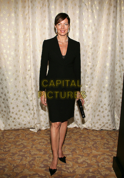 ALLISON JANNEY.5th Annual Awards Season Diamond Fashion Show Preview, hosted by the Diamond Information Center and Instyle Magazine at the Beverly Hills Hotel, Beverly Hills, California. .January 12th, 2006.Photo: William Scott/AdMedia/Capital Pictures.Ref: WS/ADM.full length black dress clutch purse.www.capitalpictures.com.sales@capitalpictures.com.© Capital Pictures.