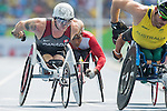 RIO DE JANEIRO - 11/9/2016:  Josh Cassidy competes in the Men's 5000m - T54 Final at the Olympic Stadium during the Rio 2016 Paralympic Games in Rio de Janeiro, Brazil. (Photo by Matthew Murnaghan/Canadian Paralympic Committee