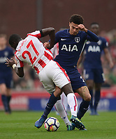 \s27\ battles for the ball with Dele Alli of Tottenham during the EPL - Premier League match between Chelsea and West Ham United at Stamford Bridge, London, England on 8 April 2018. Photo by PRiME Media Images.