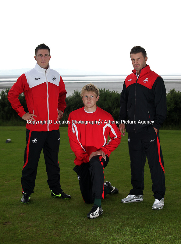 Pictured:<br /> Re: Swansea City Football Club new kit presentation at Machybys Golf Club near Llanelli west Wales. Tuesday 23 June 2009<br /> Picture by D Legakis Photography / Athena Picture Agency, 24 Belgrave Court, Swansea, SA1 4PY, 07815441513