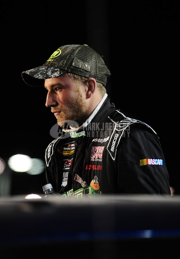 Nov. 19, 2010; Homestead, FL, USA; NASCAR Camping World Truck Series driver Jeffrey Earnhardt during the Ford 200 at Homestead Miami Speedway. Mandatory Credit: Mark J. Rebilas-