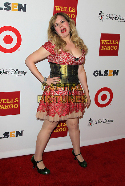17 October 2014 - Los Angeles, California - Kirsten Vangsness. 10th Annual GLSEN Respect Awards Held at The Regent Beverly Wilshire.   <br /> CAP/ADM/FS<br /> &copy;Faye Sadou/AdMedia/Capital Pictures