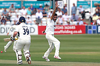 Mohammad Amir of Essex claims the wicket of John Simpson during Essex CCC vs Middlesex CCC, Specsavers County Championship Division 1 Cricket at The Cloudfm County Ground on 26th June 2017
