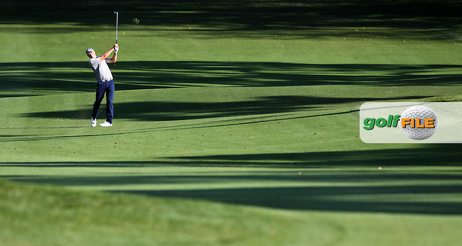 Jordon Spieth of USA plays his second shot on the 18th fairway during the 3rd round of the Valspar Championship, Innisbrook Resort (Copperhead), Palm Harbor, Florida, USA<br /> Picture: Peter Mulhy / Golffile