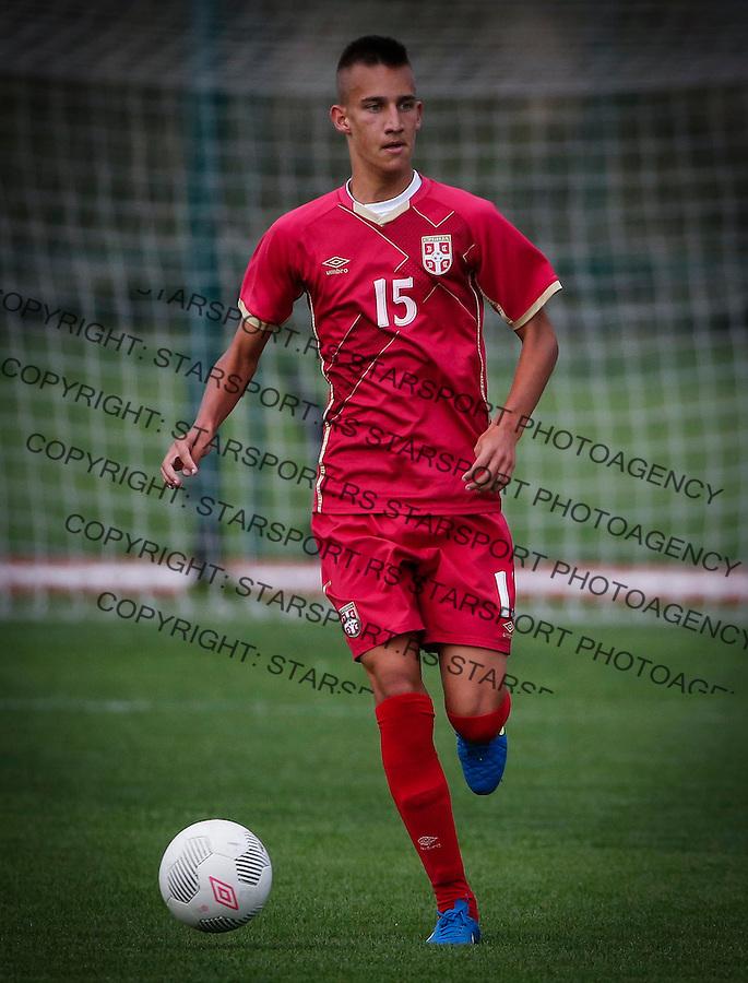 Fudbal Soccer<br /> International Friendly-Prijateljski mec<br /> Srbija U17 v Belorusiaj U17<br /> Igor Jelicic<br /> Stara Pazova, 20.09.2016<br /> foto: Srdjan Stevanovic/Starsportphoto &copy;