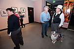 Three of the photographers, Robin Travers, Steve Johnson and Thomas Hutchins at the opening of the Mission San Antonio de Padua Portfolio Workshop exhibition at the National Steinbeck Center Museum.
