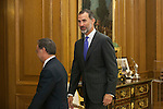 King Felipe VI of Spain receives Juan Jesus Vivas, President and Mayor of Ceuta, during an official meeting at Zarzuela Palace in Madrid, Spain. July 21, 2015. (ALTERPHOTOS/Victor Blanco)