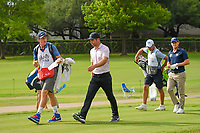 Paul Casey (GBR) and Emiliano Grillo (ARG) head down 7 during round 1 of the 2019 Charles Schwab Challenge, Colonial Country Club, Ft. Worth, Texas,  USA. 5/23/2019.<br /> Picture: Golffile | Ken Murray<br /> <br /> All photo usage must carry mandatory copyright credit (© Golffile | Ken Murray)