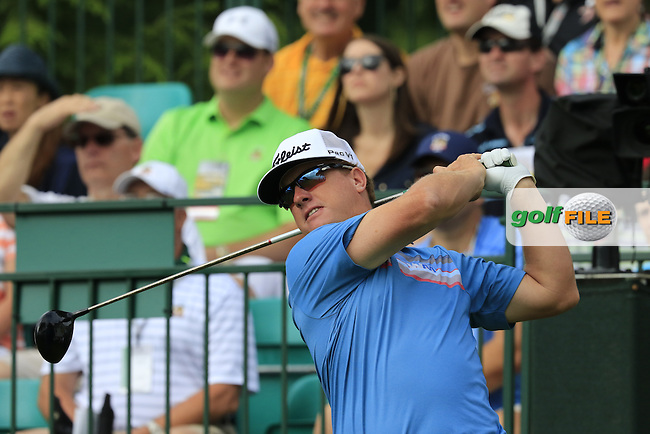 Charley Hoffman (USA) tees off the 1st tee during Friday's Round 1 of the 2016 U.S. Open Championship held at Oakmont Country Club, Oakmont, Pittsburgh, Pennsylvania, United States of America. 17th June 2016.<br /> Picture: Eoin Clarke | Golffile<br /> <br /> <br /> All photos usage must carry mandatory copyright credit (&copy; Golffile | Eoin Clarke)