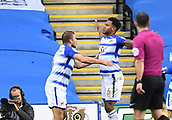 30th September 2017, Madejski Stadium, Reading, England; EFL Championship football, Reading versus Norwich City; Liam Moore of Reading celebrates scoring his sides equaliser in the 10th minute