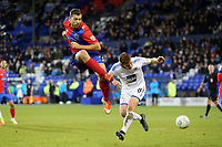 Jay Harris of Tranmere Rovers and Michael Cheek of Dagenham during Tranmere Rovers vs Dagenham & Redbridge, Vanarama National League Football at Prenton Park on 11th November 2017