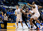 January 24, 2017:  Air Force's, Hayden Graham #35, and Lavelle Scottie #12, control the lane during the NCAA basketball game between the San Diego State Aztecs and the Air Force Academy Falcons, Clune Arena, U.S. Air Force Academy, Colorado Springs, Colorado.  Air Force defeats San Diego State 60-57.