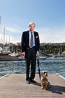 Mikael Krafft, CEO of Star Clippers, poses for the photographer in Port Hercules, Monaco, 19 April 2012