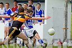 Ciaran Mulvhill Shannon Rangers in action against Ciaran O'Connell Austin Stacks in the First Round of the Kerry Senior Football Championship at O'Rahilly Park Ballylongford on Sunday.