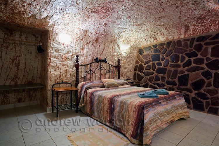 Underground room at Radeka's Downunder Dugout Motel - Coober Pedy, South Australia, AUSTRALIA.
