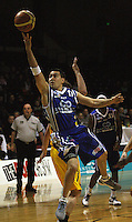 Saints guard Luke Martin lays up during the NBL Round 9 match between the Wellington Saints and Nelson Giants at TSB Bank Arena, Wellington, New Zealand on Thursday 7 May 2009. Photo: Dave Lintott / lintottphoto.co.nz