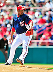 14 March 2010: Washington Nationals' pitcher Livan Hernandez on the mound during a Spring Training game against the St. Louis Cardinals at Space Coast Stadium in Viera, Florida. The Cardinals defeated the Nationals 7-3 in Grapefruit League action. Mandatory Credit: Ed Wolfstein Photo