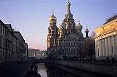 St Petersburg, Russia. Church of Saviour on the Spilled Blood from the canal side. Built where Alexander II was assasinated.
