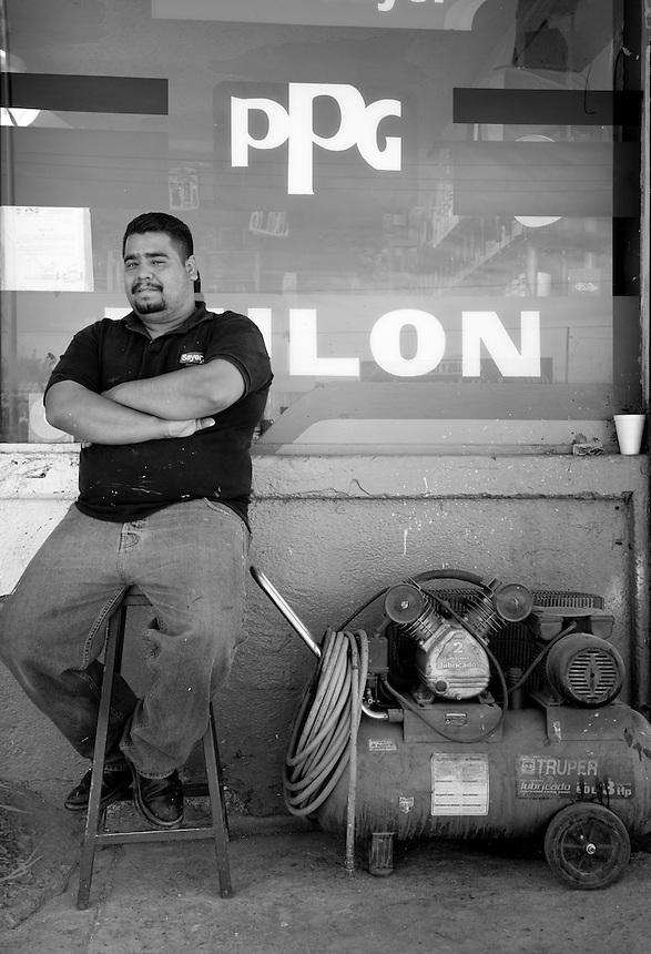 Jorge Sanchez Serrano. Hardware store owners in San Felipe, Baja California Norte,  Mexico.