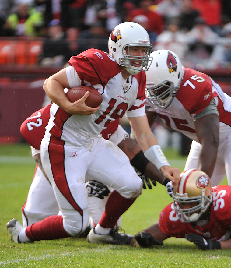 JOHN SKELTON, of the Arizona Cardinals, in action during the Cardinals game against the San Francisco 49ers on November 20, 2011 at Candlestick Park in San Francisco, CA. San Francisco beat Arizona 23-7.