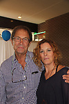 Guiding Light's Peter Simon and Liz Keifer at the 2nd Annual Bauer Barbeque  with trivia contests, Family Feud contest, photos, autographs, Q & A on October 8, 2017 - a part of the Guiding Light Daytime Stars and Strikes for Autism weekend at the Residence Inn, Secaucus, New Jersey. (Photo by Sue Coflin/Max Photo)