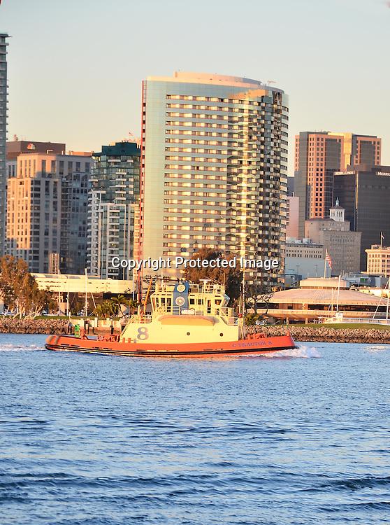 Stock photo of San Diego Stock Photo of San Diego Stock photo of Tug Boat