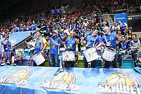 Fans der Skyliners feuern ihr Team an - 05.11.2017: Fraport Skyliners vs. EWE Baskets Oldenburg, Fraport Arena Frankfurt