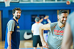 Player Sergio Llull smiles during the second season of training of Spanish National Team of Basketball 2019 . July 27, 2019. (ALTERPHOTOS/Francis González)