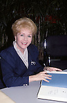 Debbie Reynolds signing copies of her new autobiography 'My Life Debbie Reynolds' on November 7, 1988 at  a bookstore in New York City.
