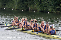 """Henley on Thames, United Kingdom, 4th July 2018, Wednesday, View, Heat of the """"Remenham Challenge Cup"""", """" University of Washington"""",  first day of the annual,  """"Henley Royal Regatta"""", Henley Reach, River Thames, Thames Valley, England,© Peter SPURRIERAlamy Live News,"""