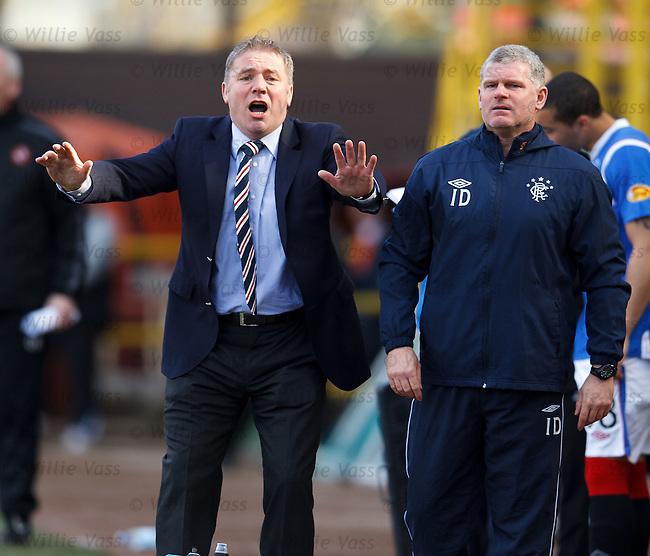 Ally McCoist and Ian Durrant in agony as Rangers crash at Tannadice