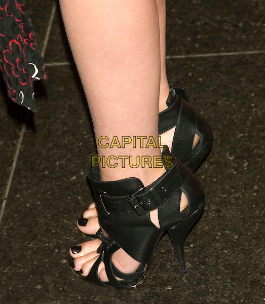 GWYNETH PALTROW'S SHOES.Food Bank for New York City's 5th Annual Can-Do Awards Dinner at Pier Sixty, Chelsea Piers, New York, NY, USA..April 7th, 2008 .feet shoes boots ankle strappy heels black leather nail varnish polish .CAP/LNC/TOM.©TOM/LNC/Capital Pictures.