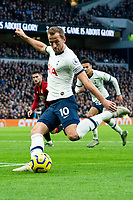 Tottenham Hotspur's Harry Kane has a shot in the match against Bournemouth<br /> <br /> Photographer Stephanie Meek/CameraSport<br /> <br /> The Premier League - Tottenham Hotspur v Bournemouth - Saturday 30th November 2019 - Tottenham Hotspur Stadium - London<br /> <br /> World Copyright © 2019 CameraSport. All rights reserved. 43 Linden Ave. Countesthorpe. Leicester. England. LE8 5PG - Tel: +44 (0) 116 277 4147 - admin@camerasport.com - www.camerasport.com
