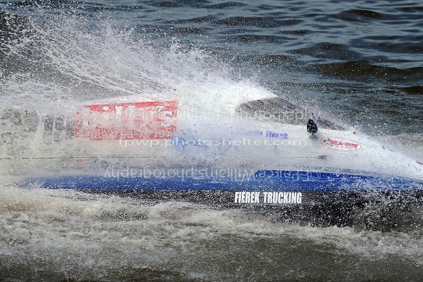 Dustin Fierek, (#19) gets a facefull of water... (SST-45 class)